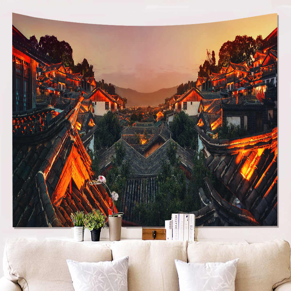Art Pattern Wall Tapestry Hanging Aesthetic Dark Blue Psychedelic Tapestry Simple Large Landscape Tapiz Bedroom Decor Ad50wt Tapestry Aliexpress