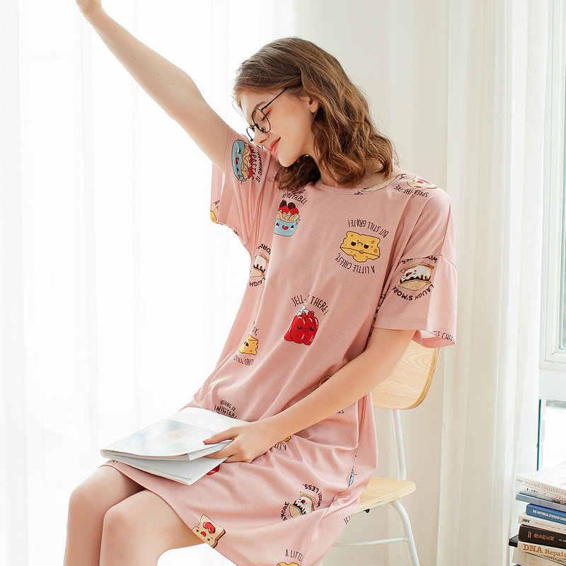 Fenteng Lente Zomer Pyjama Set Causale Katoen Gedrukt Pyjama Voor Vrouwen Oneck Korte Mouwen Losse Vrouwelijke Slaap Top X98122275