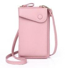 Phone Purse Women Shoulder Bag Multi-Card Slots Candy Messenger Bag Large Capacity Clutch Bag Women Leather Handbags Card Wallet victorinox набор ножей для стейков swiss classic 6 пр 11 см 6 7232 6 victorinox