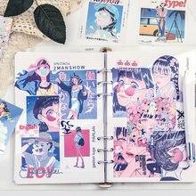 60 unidades/pacote japonês showa estilo criativo grade solta folha bloco de notas diário trabalho planejador rótulo kawaii decoração papelaria