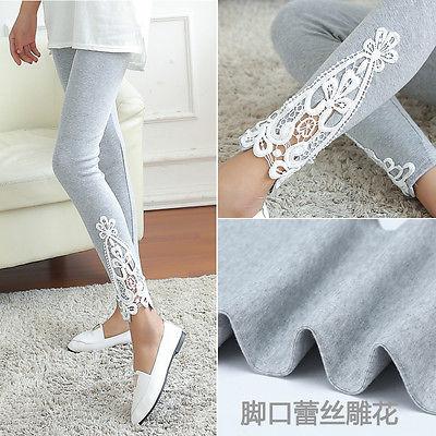 Fashion Lace Crochet High Waist Fitness Leggings Women Skinny Stretch Jogger Pants Female Ladies Trousers
