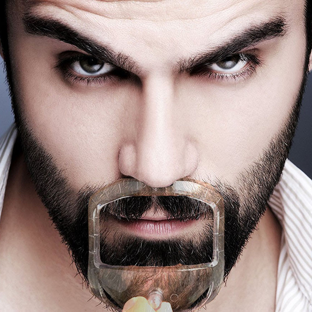 5Pcs/lot Salon Mustache Beard Styling Template Beard Shaper Goatee Mustache Grooming For Hair Beard Trim Templates Beard Shaper
