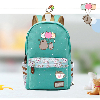 IMIDO Cute Cat Backpacks for Students Candy Color Shoulders Backpack Large Capacity Teenagers Travel Bags Back to School Bag totoro anime cosplay backpack ogino chihiro cartoon canvas travel backpacks shoulders school bag best students gifts