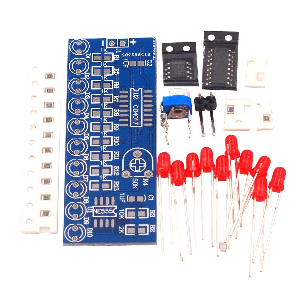 Water Light Kit NE555+CD4017 Water Light Electronic DIY Parts Electronic Production Water Light Kit Electronic Kit