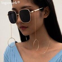 Cadena para gafas de sol para mujer, cadena para gafas de lectura Vintage Punk, de Metal, cordón redondo, accesorios, 2021
