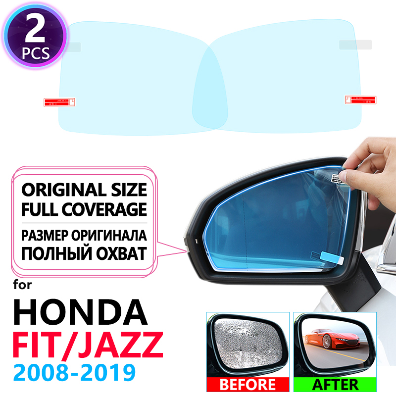 Full Cover Anti Fog Film Rearview Mirror For Honda Fit Jazz 2008~2019 Accessories GE6 GK5 2009 2010 2014 2018 Car Clear Films