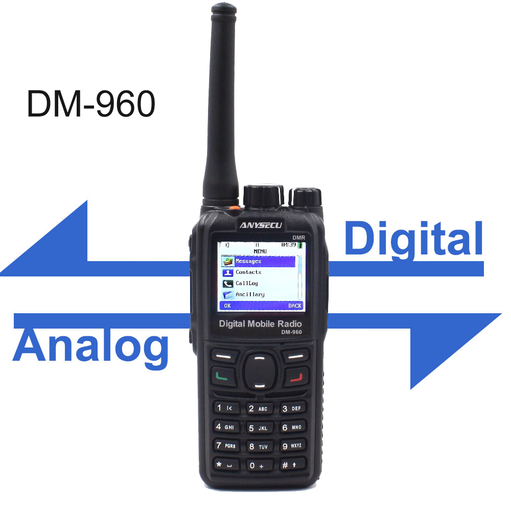 Anysecu DM-960 DMR Digital Radio VHF 136-174MHz Or UHF 400-480MHz Walkie Talkie Compatible With MOTOTRBO Two Way Radio DM960
