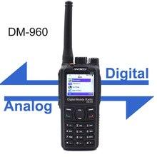 Anysecu DM 960 DMR dijital radyo UHF 400 480MHz Walkie Talkie MOTOTRBO ile uyumlu iki yönlü telsiz DM960