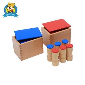 Монтессори звуковые коробки игрушка