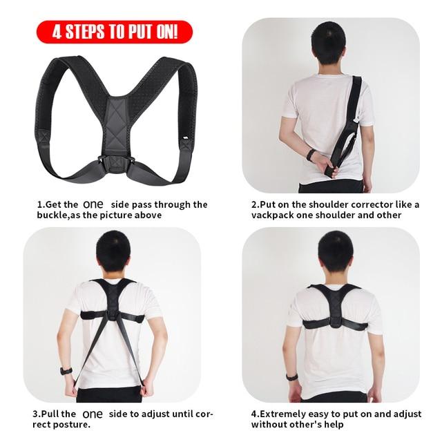 VIP DropShipping Medical Clavicle Posture Corrector Adult Children Back Support Belt Corset Orthopedic Brace Shoulder Correct 3