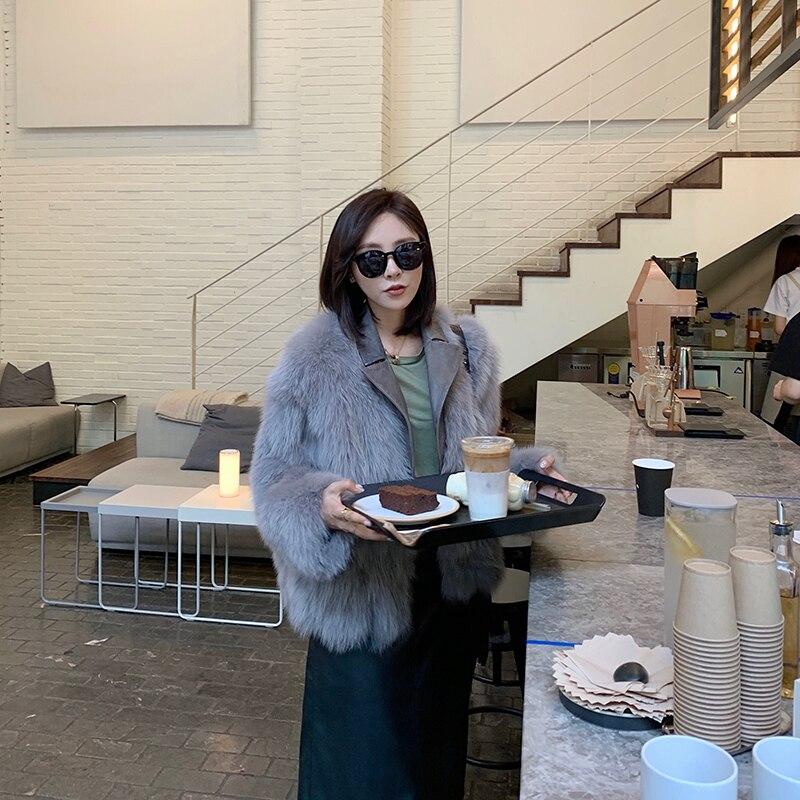 Winter Fox Korean Fashion Real Fur Coat For Women Clothes 2020 Manteau Femme 904-19080 YY221
