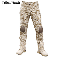 Military Cargo Pants Men Tactical Army SWAT Camo Pants Combat Paintball Camouflage Pants Uniforms Work Trousers Knee Pads
