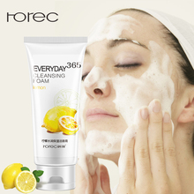 ROREC 100% Plant Pure Deep Cleansing Foam Facial Cleanser Shrink Pores Control Oil Whitening Moisturizing Aloe Vera Gel