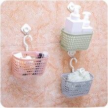 Новая Корзина для ванной с крючками, модная пластиковая корзина для ванной, корзина для душа, Многофункциональная Корзина для ванной на кухне