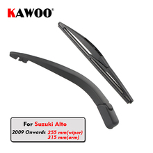 KAWOO Car Rear Wiper Blade Blades Back Window Wipers Arm For Suzuki Alto Hatchback (2009 Onwards) 255mm Auto Windscreen Blade