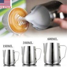 2020 nova moda quente 3 tamanhos de aço inoxidável ofício leite café latte espumando arte jarro caneca copo