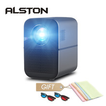 Alston m6 completo hd led projetor 4000 lumens bluetooth hdmi usb 1080p portátil cinema proyector beamer(China)