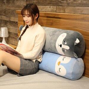 Backrest Cushion Long Pillow Cartoon Stuffed Animal Waist Cushion Sofa Bed Cushion Sleep Reading Pad Home Decoration