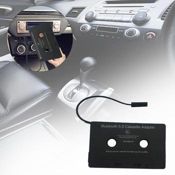 Uniwersalny samochodowe audio Bluetooth kaseta do Aux Adapter dla smartfonów kaseta Adapter do samochodu wbudowany kable rozruchowe akcesoria tanie i dobre opinie Ai CAR FUN Bluetooth Audio Cassette as describe 1 0kg Angielski 10x6 4x 0 9cm 3 3-4 2V Black support 4 0 + EDR tape player
