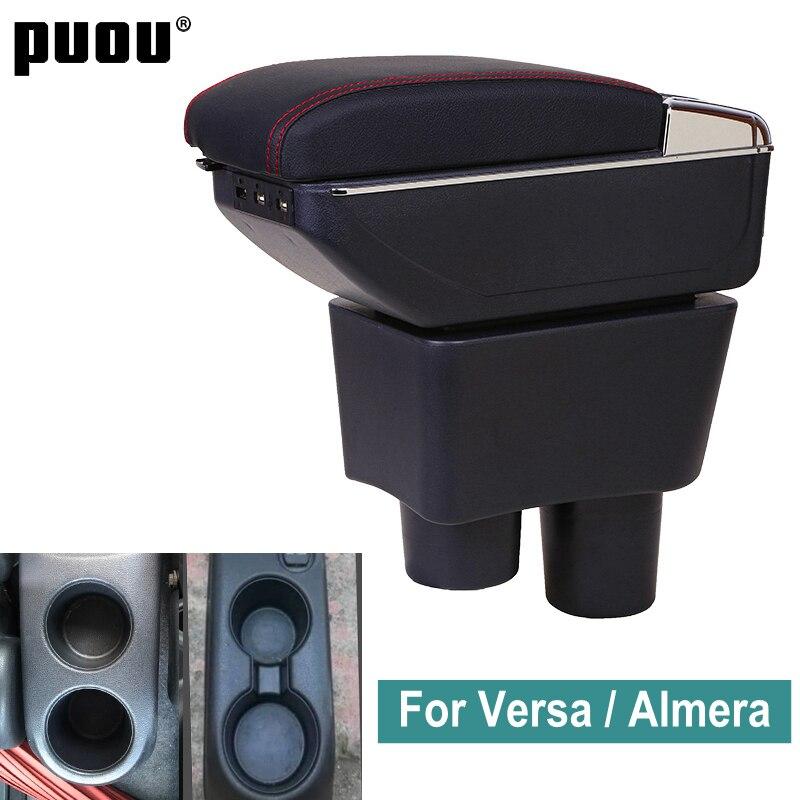 Для Nissan Almera Versa поворотный подлокотник коробка для хранения содержимого центрального магазина Latio коробка пепельница для автомобиля Стайли...
