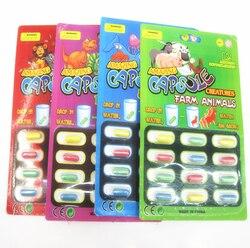 Nova magia macia eva bebê cognição brinquedos cedo brinquedo educativo crianças dos desenhos animados dinossauro brinquedos de banho brinquedo crescer cápsula