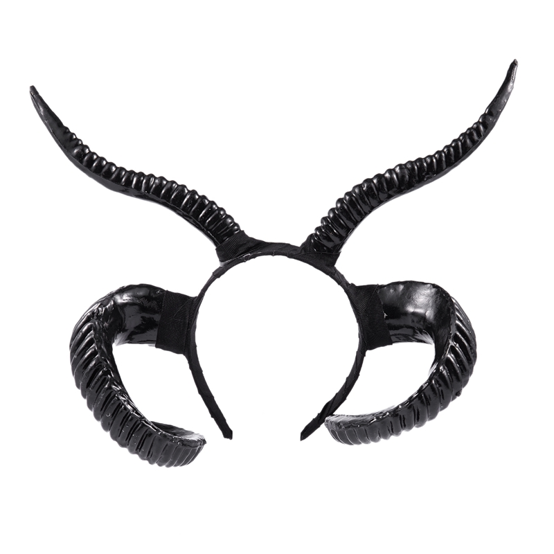 Gothic Antler Sheep Horn Hoop Headband Forest Animal Photography Manual Cosplay Headpieces Party Accessories