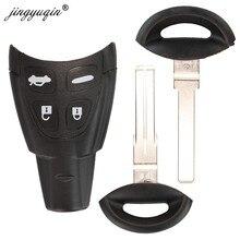 Jingyuqin coquille de clé de voiture à distance pour Saab 9-3 93 2003-2007 4 boutons lame non coupée remplacement de la carte à puce boîtier de Fob sans clé