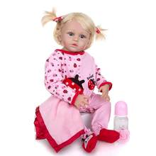 Nowy projekt 23 Cal pełna silikonowa lalka ręcznie realistyczne Reborn Babies dziewczyna zabawka dla dziecka prezent na boże narodzenie dobranoc Playmate