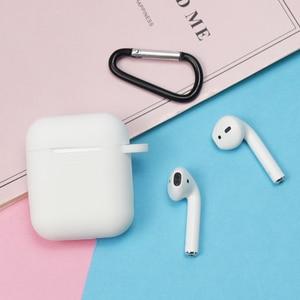 Image 4 - Pełna obudowa ochronna do Airpods przenośna silikonowa skóra z etui na kluczyk do apple Airpods ładowanie słuchawek