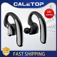 Caletop 스포츠 무선 헤드셋 TWS 5.0 블루투스 무선 헤드폰 (마이크 포함) 안드로이드 폰용 iphone 12 시간