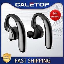 Caletopスポーツワイヤレスヘッドセットtws 5.0 bluetoothワイヤレスマイク 12 時間iphoneのための電話