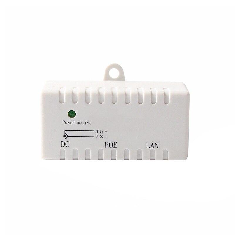 Poe Splitter Poe Injector Rj45 Dc 5.5Mm X 2.1Mm Input Passive Poe Injector Splitter Adapter Connector For Ip Network Camera(Whit
