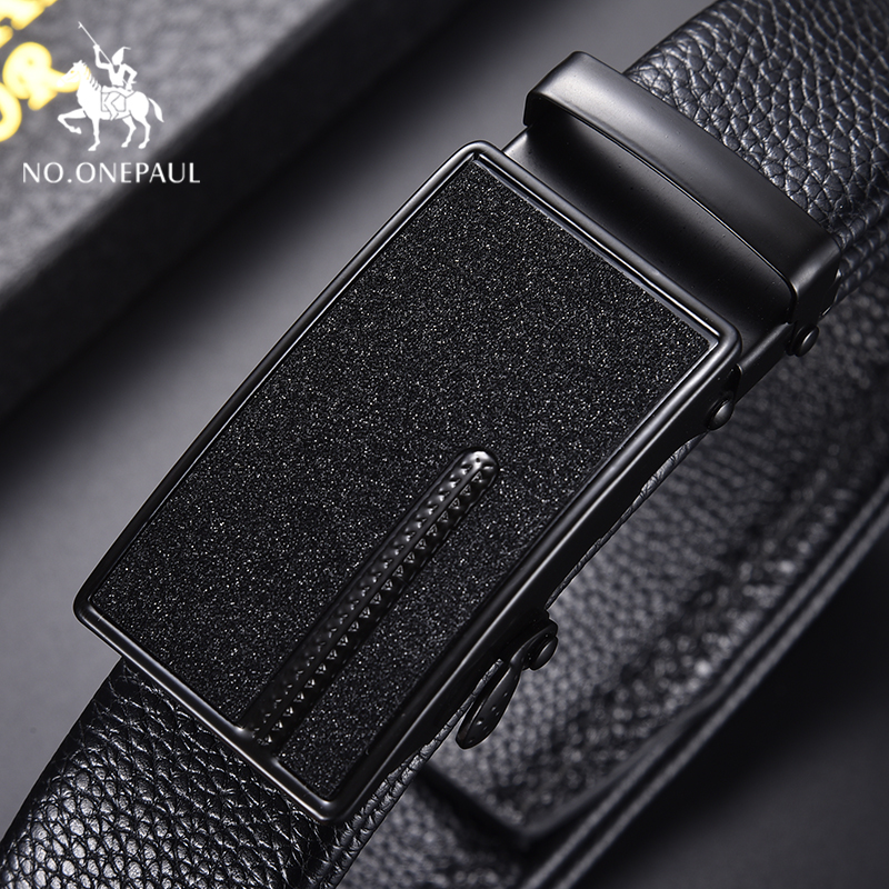 NO.ONEPAUL Luxury Brand Belt Men Fashion Alloy Automatic Buckle Genuine Leather Belts For Men Designer's Top Business Waist Belt