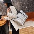 Новая зимняя вместительная сумка-тоут для женщин 2021 повседневные водонепроницаемые сумки вместительная Хлопковая сумка на плечо женские т...