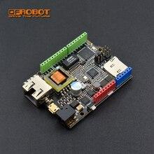 Модернизированная плата управления DFRobot W5500 Ethernet с ATmega32u4 и POE, v2.0, совместима с Arduino для IOT, intel вещей