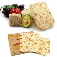 Herbruikbare Voedsel Wraps Duurzame Biologische Bijenwas Wrap Voedsel Opslag Eco Vriendelijke Sandwich Tas Bijen Wax Deksel Cover Wrap Nul Afval-in Wraps & Plastic Zakjes van Huis & Tuin op