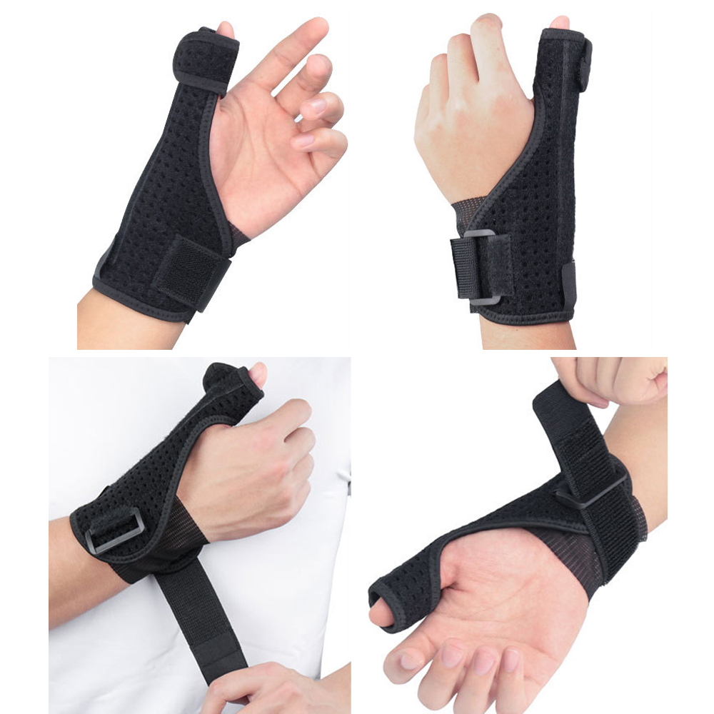 Sports Gear Bracers Wrist Sprain Thumb Steel Plate Support Hand Protector
