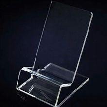 Przezroczysty akrylowy uchwyt na telefon Mini przenośny wyświetlacz wieszak stojący stojak na wyświetlacz telefonu komórkowego tanie tanio NoEnName_Null Uniwersalny PJ6257-00 Biurko Z tworzywa sztucznego