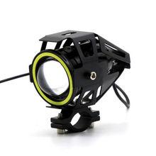 Кронштейн мотоциклетный головной светильник дальнего света Вспышка зеленый ангельские глазки светильник 125 Вт Светодиодный переключатель тумана 50 см
