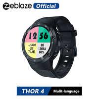 Zeblaze THOR 4 insignia 4G LTE GPS SmartWatch Android 7,0 MTK6737 Quad Core 1GB + 16GB 5.0MP 580mAh 4G/3G/2G llamada DE DATOS reloj de los hombres