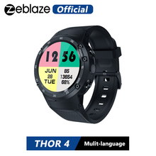 Zeblaze THOR 4 phare 4G LTE GPS SmartWatch Android 7.0 MTK6737 Quad Core 1GB + 16GB 5.0MP 580mAh 4G/3G/2G données appel montre hommes