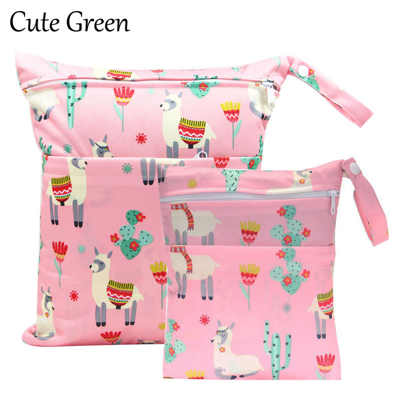 Reusable Maternity Diaper Bag Double Pockets For Diapers Nappies Waterproof PUL Stroller Diaper Wet Bag Wetbag 20*25 30*36Cm