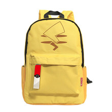 Yellow Anime Pocket Monster Cartoon pikachu Kid Cute Backpack School Bag Nylon Book Bags Satchel Unisex Rucksack Shoulder Travel(China)