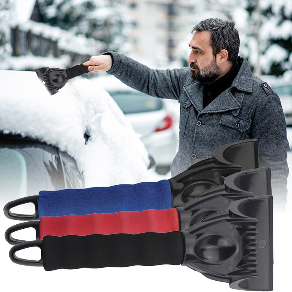 Portable Car Winter Windshield Snow Ice Scraper Plastic Snow Shovel Brush Snow Removal For Cars And Small Trucks