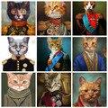 Винтаж Стиль дома украшения картина с рисунком животных Cardinal кошка плакаты-портреты Hd печати северных настенные картины для Спальня