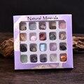 Оптовая продажа натуральный фиолетовый ящик минеральный камень образец неравномерность кварц сувенир Мода энергия камень коллекция орнам...