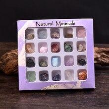 Atacado caixa roxa natural rocha mineral espécime irregularidade lembrança de quartzo moda energia pedra coleção ornamento presentes