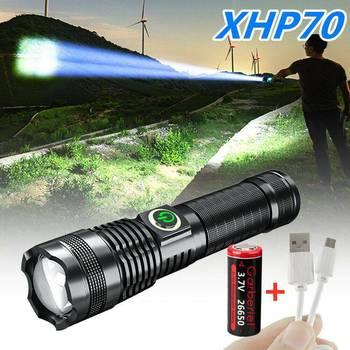 XHP70 LED ładowalna latarka 5 trybów wodoodporna Outdoor Camping mocna latarka Led Mini latarka led latarka tanie i dobre opinie OLOEY CN (pochodzenie)