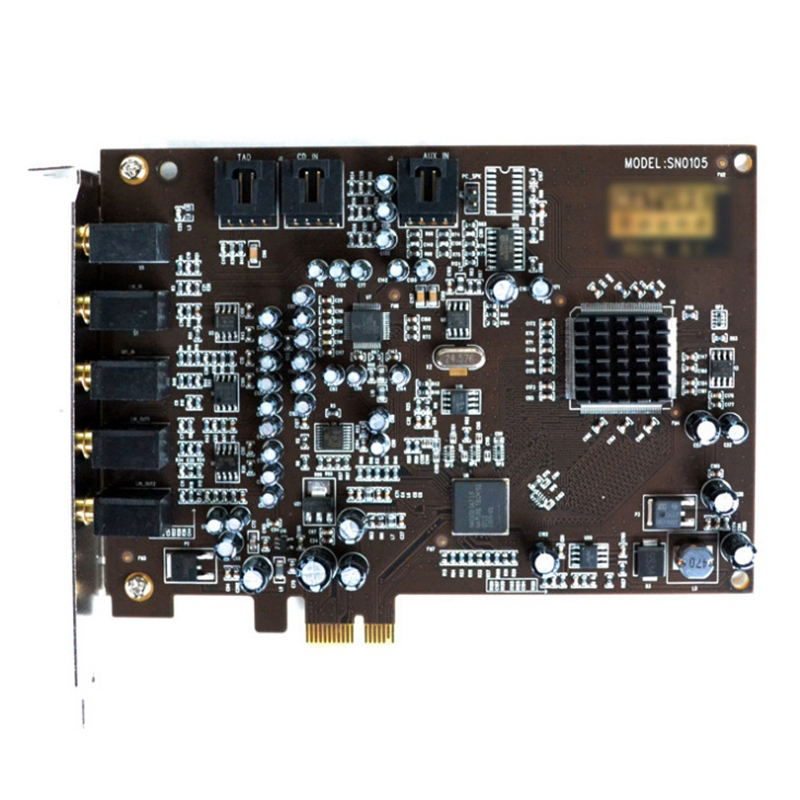 5.1 Sound Card PCI Express PCI-E Built-In Double Output Interface For PC Window XP/7/8