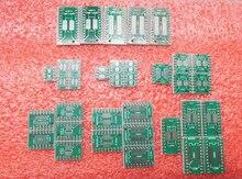 PCB Board Kit 7kinds X 5pcs=35pcs SOP8 SMT To DIP MSOP SSOP TSSOP SOT23 8 10 14 16 20 24 28 SMD Turn To DIP QFP32 64 80 100 qfn